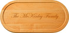 Maple 20 inch Personalized Oval Cutting Board