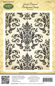 JR regency damask  Joans Gardens | Paper crafting products for card making and scrapbooking.