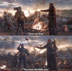 Who used Mjolnir better? Thor or Cap? >>>> Thor all the way Marvel Comics, Marvel Funny, Disney Marvel, Marvel Memes, Marvel Avengers, Comic Superheroes, Marvel Films, Loki, Thor