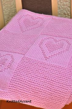 Easy Blanket PATTERN written instructions with diagram.Baby Knitting Patterns Arm Ravelry: Baby pattern by Žana Daniūnienė Wool Baby Blanket, Crochet Heart Blanket, Free Baby Blanket Patterns, Pink Blanket, Knitted Baby Blankets, Crochet Blanket Patterns, Baby Knitting Patterns, Baby Patterns, Free Knitting