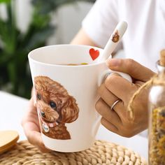 Smarter Shopping, Better Living! Aliexpress.com Ceramic Coffee Cups, Novelty Mugs, Milk Cup, Dog Pattern, Custom Mugs, Cute Cartoon, Tableware, Shopping