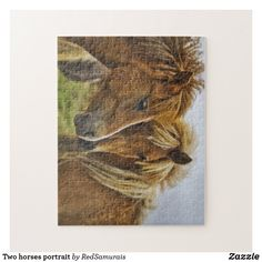 Two horses portrait jigsaw puzzle Two Horses, Wild Horses, Horse Portrait, Make Your Own Puzzle, Custom Gift Boxes, Sticker Shop, Horse Head, Farm Animals, High Quality Images