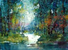 15 Beautiful Watercolor Landscape Paintings by ZL Feng - 9 watercolor paintings zlfeng Beautiful Landscape Paintings, Watercolor Landscape Paintings, Watercolor Trees, Watercolor Artists, Cool Landscapes, Abstract Landscape, Watercolor Artwork, Colorful Paintings, Watercolor Techniques