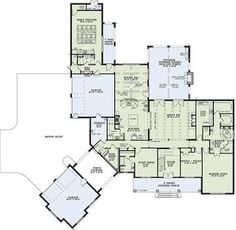 Six Bedrooms for the Large Family - 60593ND | Architectural Designs - House Plans