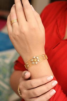 Bracelet with ring.