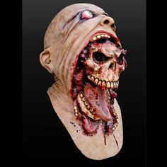 Buy Bloody Zombie Mask Melting Face Adult Latex Costume Walking Dead Halloween Scary at Wish - Shopping Made Fun Costume Halloween, Scary Halloween Masks, Scary Mask, Halloween Horror, Link Halloween, Halloween Party, Bloody Halloween, Zombie Party, Halloween News