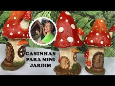 DIY - How to make houses for mini gardens: in the shape of mushrooms Cement Crafts, Clay Crafts, Hobbies And Crafts, Crafts For Kids, Concrete Art, Diy Planters, Clay Art, Handmade Crafts, Stuffed Mushrooms