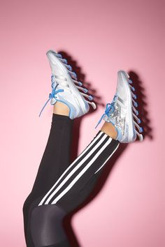 adidas Springblade sneakers with Shwings for a little stylish accent #shinewithsweat