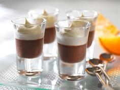 popis Orange Cups, Chocolate Orange, Dessert Recipes, Desserts, Nom Nom, Panna Cotta, Sweet Treats, Food And Drink, Pudding