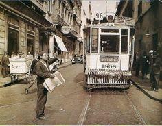 El 96 su recorrido era por Monroe, Alvarez Thomas, Rivera, Córdoba Talcahuano, Alsina y Plaza de Mayo. Foto de la esquina de Alsina y Defensa