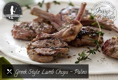 Greek Style Lamb Chops - Paleo
