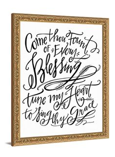 Come Thou Fount canvas from Lindsay Letters.