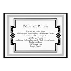 ReviewBlack White Art Deco Frame Wedding Rehearsal Custom InvitationsWe have the best promotion for you and if you are interested in the related item or need more information reviews from the x customer who are own of them before please follow the link to see fully reviews