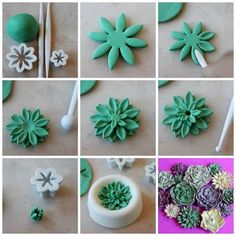 How to make sugar succulents - visit our website to find everything you need to make these flowers and more! http://www.sweetsuccess.uk.com/Home.asp