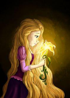 Rapunzel and the Magic Golden Flower in Flower Gleam and Glow Film Disney, Disney Rapunzel, Disney Nerd, Disney Princes, Disney Memes, Disney Fan Art, Disney Love, Princess Rapunzel, Estilo Disney