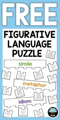 Read Relevant Help your students master figurative language with this FREE fun and interactive puzzle activity! Middle School Reading, Middle School English, 4th Grade Reading, Writing Lessons, Teaching Writing, Poetry Lessons, Teaching Time, Student Teaching, Science Lessons