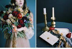 Ein königliches Siegel auf bedeutsamer Papeterie und kaiserliche Blumenarrangements in den Armen einer Prinzessin – imperiale Brautinspirationen könnten nicht anmutiger sein.