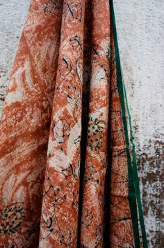Hand block printed , home-spun and handwoven khadi saree . visit   www.metaphorracha.com