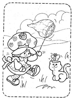 Vintage strawberry shortcake coloring book
