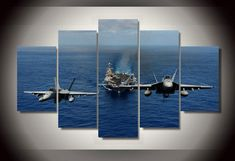 HD Printed Fighter aircraft picture Painting wall art Canvas Print room decor print poster picture canvas Free shipping/ny-775