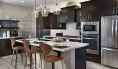 Your kitchen is more than just where you cook, it's the center of your home. Make it look great with these tile and stone ideas for your backsplash, countertops and floors from Arizona Tile. Kitchen Fan, Kitchen Post, Kitchen Images, Kitchen Pendants, Toy Kitchen, Kitchen Pictures, Tile Countertops, Kitchen Backsplash, Cool Kitchens