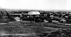 A view looking south from the bluffs just north of Salt Lake City. The eye catches at once the glistening white dome of the great Mormon Tabernacle. Mormon Tabernacle, Salt Lake County, Slc, Lake City, Old Pictures, Historical Photos, Geology, Looking Back, Vintage Photos