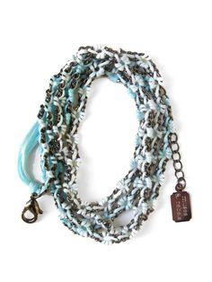 Ombre Wrap Bracelet... Cute!! #gunmetal #cloud #jewelry https://twitter.com/DazzleMeDeals