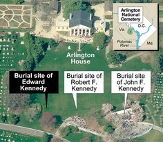 Edward Kennedy, Robert F. Kennedy, and John F. Kennedy gravesites at Arlington National Cemetary