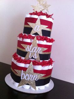 3 Tier A Star Is Born Diaper Cake Hollywood by BabeeCakesBoutique, $70.00