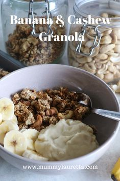 A nutritious #vegan #breakfast recipe. The sweetness of banana and savoury taste of the roasted cashew nuts compliment each other in this delicious breakfast.