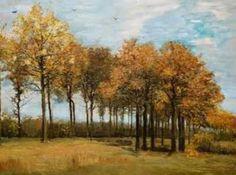 Pintando sonrisas de colores: Paisaje de otoño de Van Gogh. Gustav Klimt, Vincent Van Gogh, Famous Art, Art Of Living, Fresco, Art History, Landscape, Plants, Poster