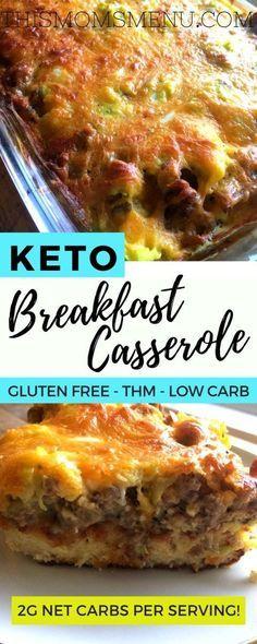Low Carb Breakfast Casserole #keto #lowcarb #breakfast