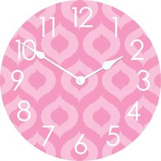Rosenberry Rooms has everything imaginable for your child's room! Share the news and get $20 Off  your purchase! (*Minimum purchase required.) Ikat Wall Clock #rosenberryrooms