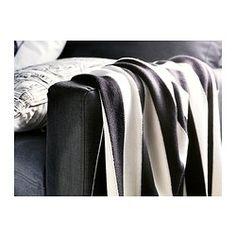 EIVOR Plaid, schwarz/weiß - IKEA