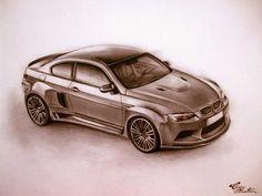 BMW M3 - Desen în Creion de Corina Olosutean // BMW M3 - Pencil Drawing by Corina Olosutean Bmw M3, Car, Automobile, Autos, Cars