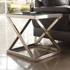 Coylin - Square End Table by Signature Design by Ashley. Get your Coylin - Square End Table at American Furniture, Brooklyn Park MN furniture store. Belfort Furniture, Furniture Logo, Steel Furniture, Industrial Furniture, Living Room Furniture, Furniture Design, Furniture Stores, Furniture Ideas, Wolf Furniture