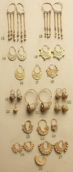 earrings, pairs and singles, gold, Byzantine by Atelier Sol