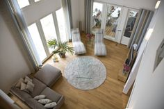 feng shui facile: tapis rond comme point focal