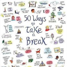 "Sometimes we all need a break...especially in the midst of the Holidays. Here are some great ideas on how to do so from @YOGANONYMOUS.    Which is your favorite? We are digging ""Take Deep Belly Breaths"" right now."