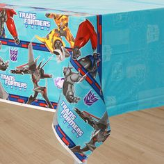"Transformers New Tablecover (includes 1 pc of plastic rectangular tablecover, that measures 54"" x 102"", in a pack)"
