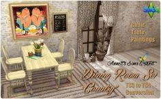 "Annett`s Sims 4 Welt: Dining Room Set ""Country"" • Sims 4 Downloads"