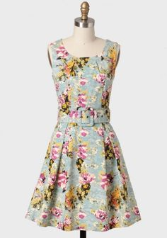 Mikayla Floral Dress By Darling UK