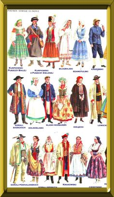Polish costumes and their regions