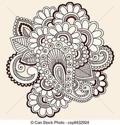 desenhos tattoo de flores - Pesquisa Google