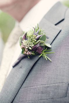 Soft green and purple buttonhole IDEAS: Boutonniere Corsages for Weddings. Ideas and Inspirations Wedding Directory-UK {WDUK}. Beautiful succulents everywhere! Mod Wedding, Purple Wedding, Wedding Bells, Floral Wedding, Wedding Bouquets, Wedding Buttonholes, Wedding Dresses, Boutonnieres, Purple Boutonniere