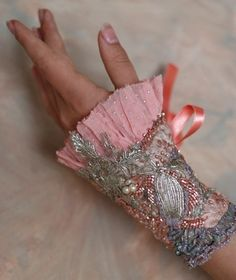 Petit Trianonromantic wearable art cuff from vintage by bonheur