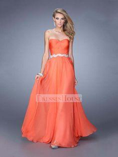 c3e8f95d22b A-line Sweetheart Beadings Ruched Bodice Chiffon Prom Dress PD12021 Plus  Size Prom Dresses