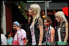 Zombie walk in front of La Casita Tacos in West End Vancouver BC on August 17, 2013 - Blonde Zombies  http://www.lacasitatacos.ca/  #Zombie #walk #infront #LaCasita #Tacos #West #End #Vancouver #BC #August #17 #2013 #Blonde #Zombies