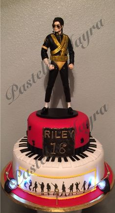 Michael Jackson Cake 5 Biscuit Birthday Themed