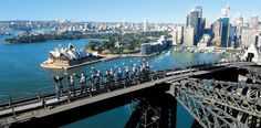 Climb to the top of the Sydney Harbour Bridge and enjoy 360 degree views.